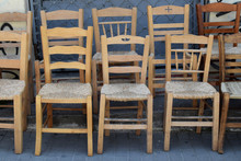 Wooden Wicker Chairs