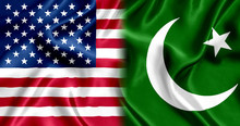 Flag Pakistani And US Silk