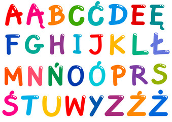 all Polish alphabet letters...