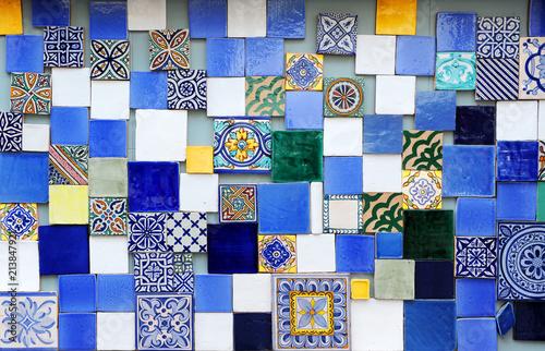 Photo Decorative tile background, modern interior design