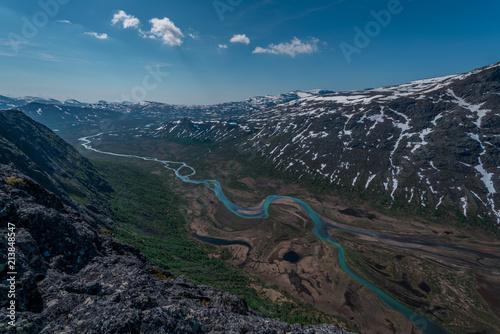 Staande foto India Fluss Knutshøe Norwegen