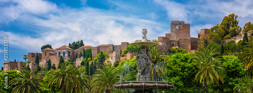View on the famous Alcazar of Malaga, Spain