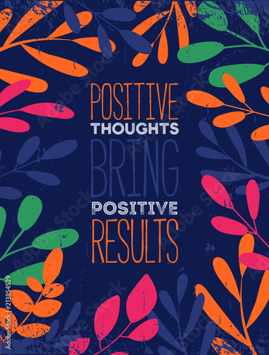 Deurstickers Positive Typography Think Positive Quote Typographic Background Design