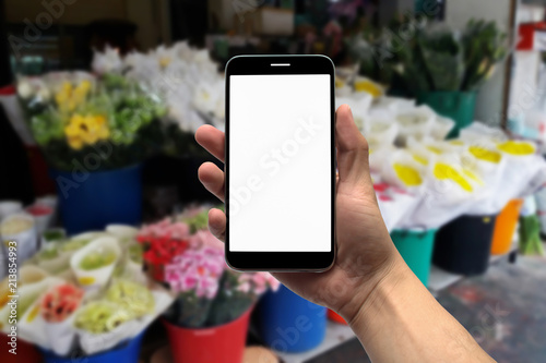blurred photo, Blurry image, Flower shop, background
