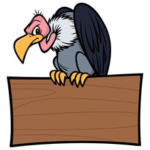 Vulture With Sign - A Vector C...