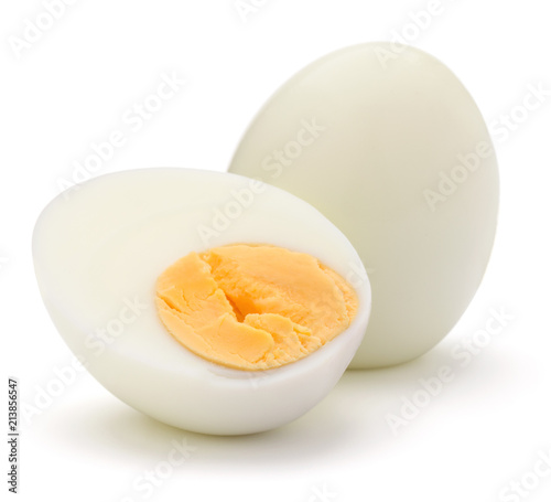 Fotografía  boiled egg isolated on white background cutout
