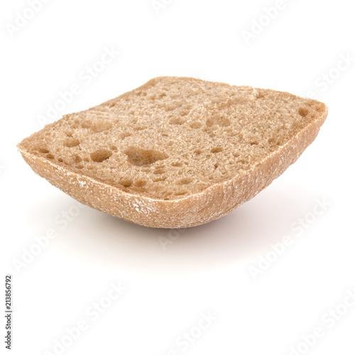 Fototapeta sliced Ciabatta bread isolated on white background cut out obraz
