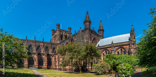 Chester Cathedral in summer Fototapet