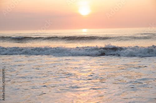 Poster  夜明けの木崎浜海岸23