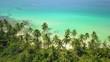 Aerial shot of a tropical beach in the Koh Kood island, Thailand
