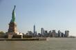 sky line new york statua della libertà liberty statue