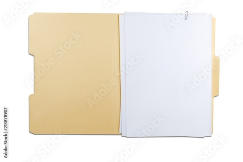 Fotografie, Obraz  File Folder with Blank Pages