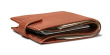 Wallet With Money And Credit Cards In It