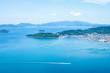 Seascape of islands in the Seto Inland Sea,Takamatsu,Kagawa,Shikoku,Japan