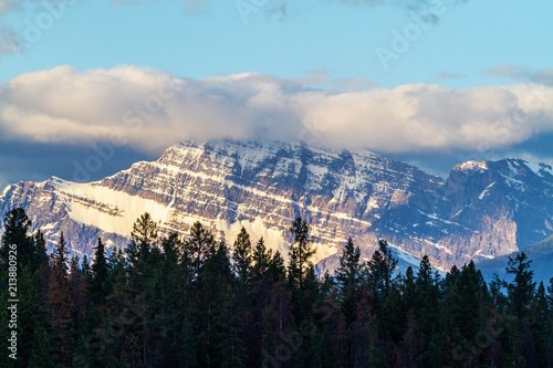 Close up of Mount Edith Cavell in Jasper National Park плакат