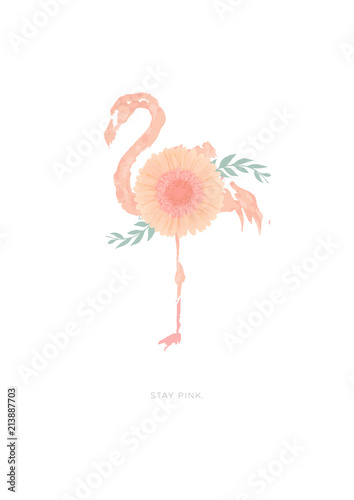 flamingo-ilustracja-z-kwiatem-gerbera-stokrotka-dorasta-na-swoim-ciele-stojac