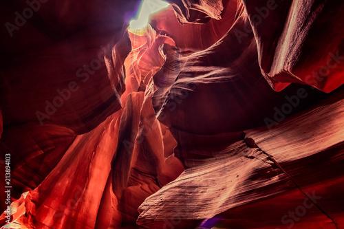 Fotografie, Obraz  Upper Antelope Canyon on Navajo land near Page, Arizona, USA