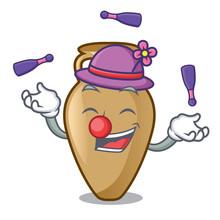Juggling Amphora Mascot Cartoo...