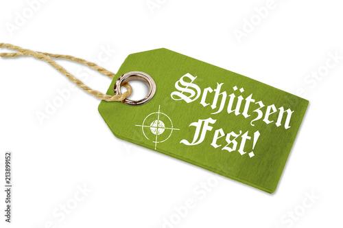 Holzanhänger mit Schützenfest Volksfest