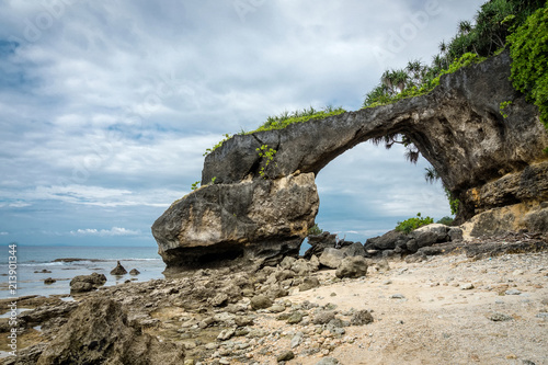a portion of sea arch Neil island, Andaman and Nicobar, India Canvas Print