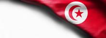 Tunisia Waving Flag On White B...