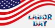 Labor day card design background. Sale Vector illustration.