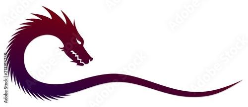 Fototapeta premium Symbol stylizowanego smoka.