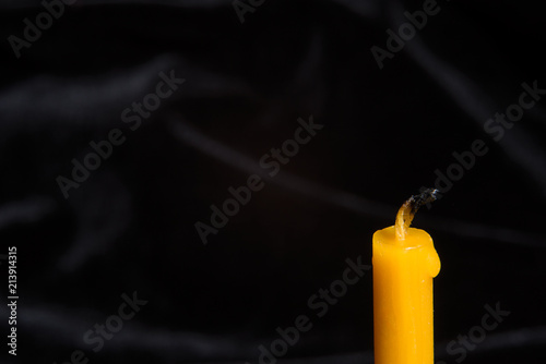 Fotografie, Obraz Background with an extinct candle