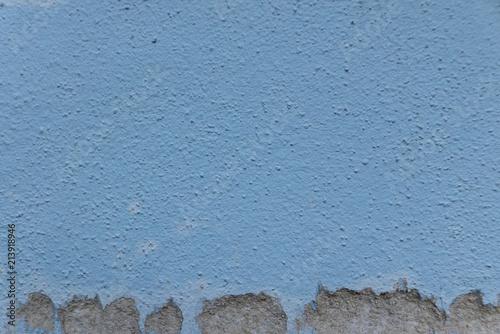 Fotografie, Obraz  Trous dans un mur bleu