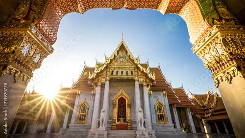 In de dag Bangkok Bangkok City - Benchamabophit dusitvanaram temple from Bangkok Thailand