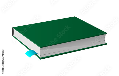 Fotografering  Book in Hardcover Vector Image Isolated Icon