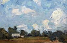 Landscape, Oil Painting, Hand ...
