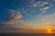 sky sunset clouds with sun