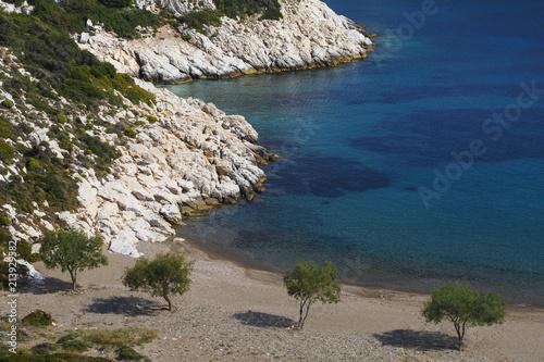 Spoed Foto op Canvas Mediterraans Europa Fourni Island.