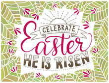 Easter Vector Lettering Card. ...