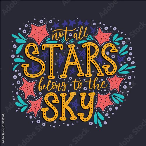 nie-wszystkie-gwiazdy-naleza-do-nieba-handdrawn-ilustracji-wektorowych-lato-cytat