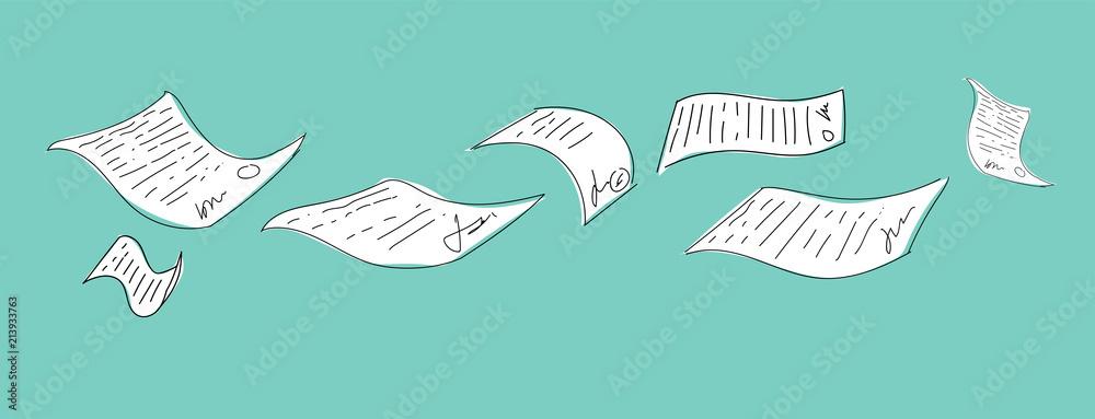 Fototapeta documenti, burocrazia, scartoffie, contratto,