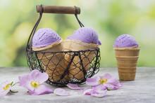 Homemade Purple Ube Ice Cream