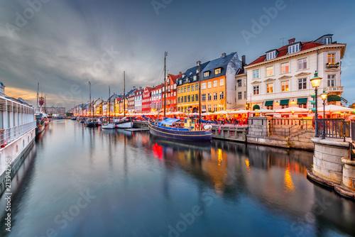 Copenhagen, Denmark Canal Wallpaper Mural