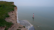 Lighthouse At Seven Sisters In Sussex England