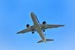 着陸中の旅客機