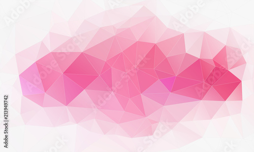 Horizontal polygonal banner. Vector Background