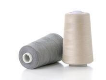 Two Cotton Thread Spools