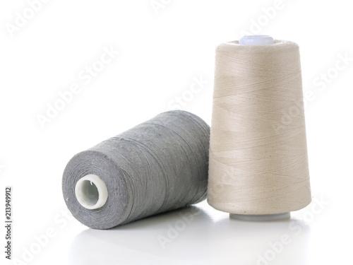 Two cotton thread spools Canvas Print