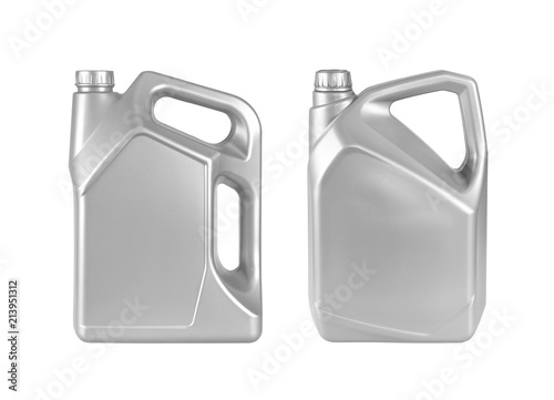 Fotomural gray duo gallon canister with engine oil isolated on white background