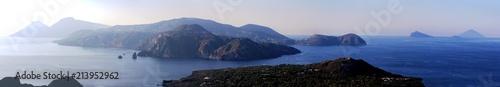 Spoed Foto op Canvas Eiland les îles éoliennes vue depuis vulcano