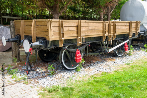 Foto op Plexiglas Fiets An old freight railroad car of the early 20th century.