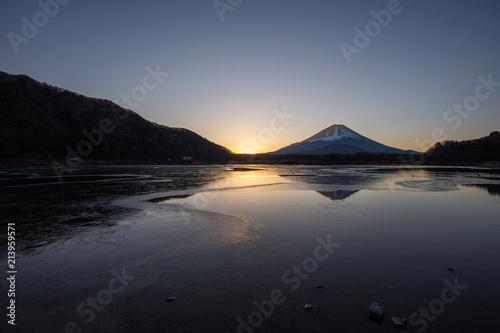 Cadres-photo bureau Cote 山梨県 富士山 精進湖 朝焼