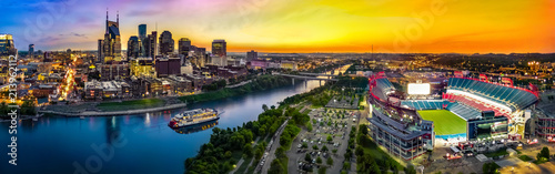 Nashville Skyline with stadium - 213962112