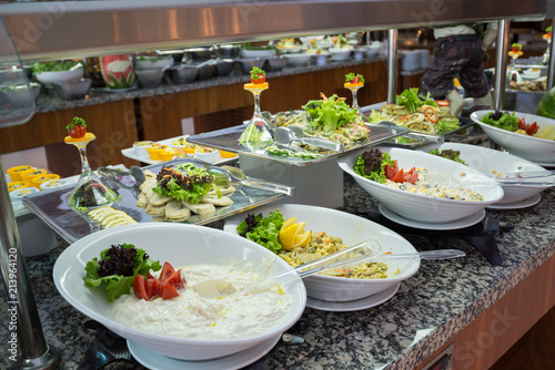 Deurstickers Buffet, Bar Concept of food All-inclusive buffet-style in Turkey
